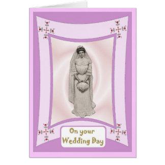 Cartão Noiva pronta para a cerimónia