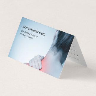 Cartão Nomeação azul elegante moderna do terapeuta da