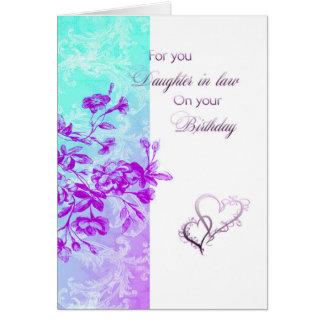 Cartão Nora do aniversário (roxa)
