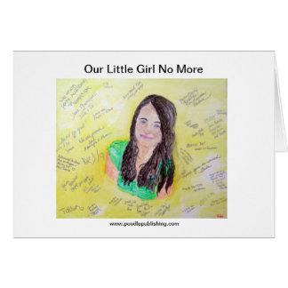 Cartão Nossa menina não mais