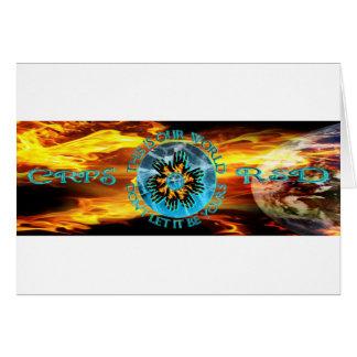 Cartão Nosso Circlet de ardência de Starburst das mãos do