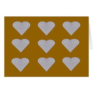 Cartão NOTE CARD.HNC.1.1.HEARTS, vazio para dentro