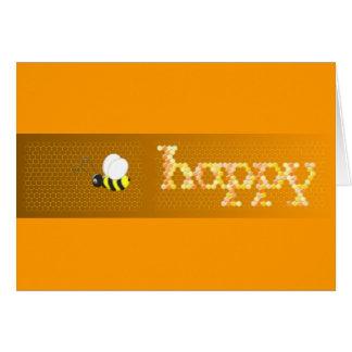 Cartão Notecard de Bee.Happy