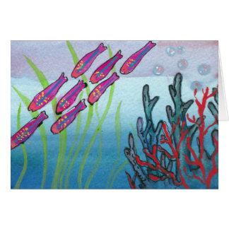 Cartão Notecard submarino legal da vida