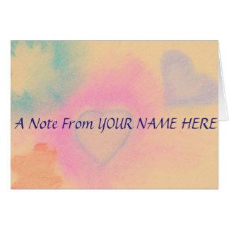 Cartão Notecards personalizado