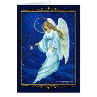 Cartão Noturno do anjo