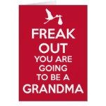 Cartão novo do anúncio da gravidez da avó do Natal