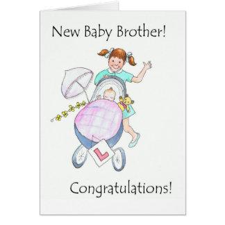 Cartão novo dos parabéns do irmão do bebê