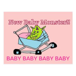 Cartão novos do monstro do bebê