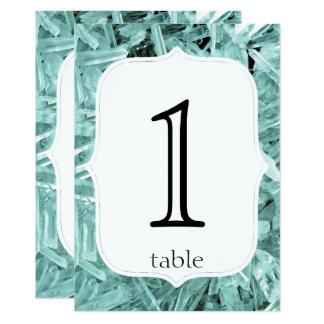 Cartão Número da mesa do aniversário do cristal da