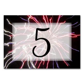 Cartão Números da mesa dos fogos-de-artifício