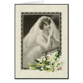 Cartão nupcial/do casamento/chá/noivado católico