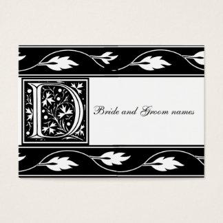 Cartão nupcial preto e branco do registro do