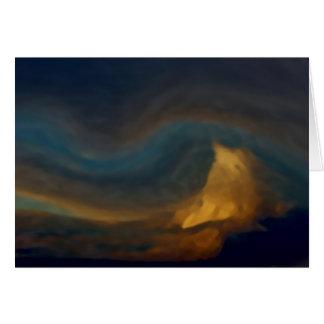 Cartão Nuvens da montanha