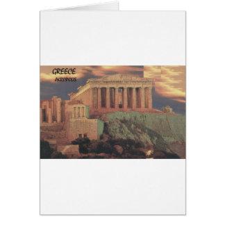 Cartão Nuvens do Partenon de Atenas da piscina (St.K)