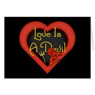 Cartão O amor é um diabo