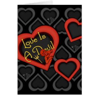 Cartão O amor é uma mistura do diabo