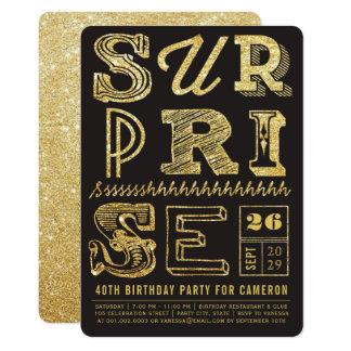 Cartão O aniversário do partido de surpresa do art deco