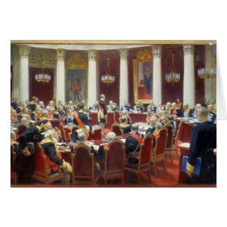 Cartão O assento cerimonial do Conselho Estatal