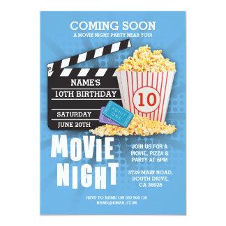 Cartão O azul da festa de aniversário do cinema do filme