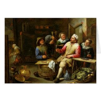 Cartão O bar da sala de estar, 1657