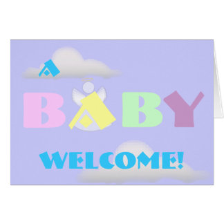 Cartão O bebê celestial Bom-Personaliza