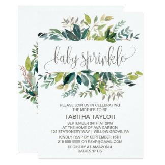 Cartão O bebê da folha polvilha
