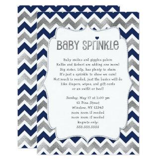 Cartão O bebê de prata do marinho polvilha, menino que o