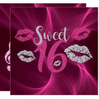 Cartão O bordo cor-de-rosa & de prata imprime o