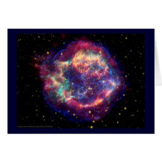 Cartão O Cassiopeia uma morte do Supernova… assenta bem