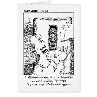 """Cartão O cérebro Shorts dos """"a surpresa Cyclops"""" por Jim"""
