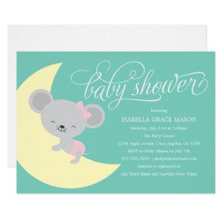 Cartão O chá de fraldas do rato | do sono convida