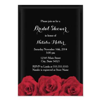 Cartão O chá de panela da rosa vermelha convida