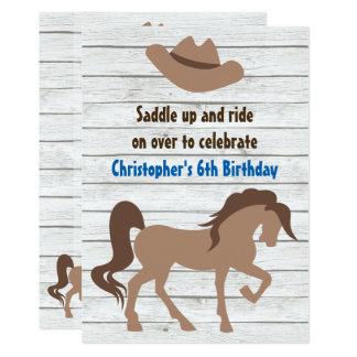 Cartão O chapéu de vaqueiro, aniversário ocidental do
