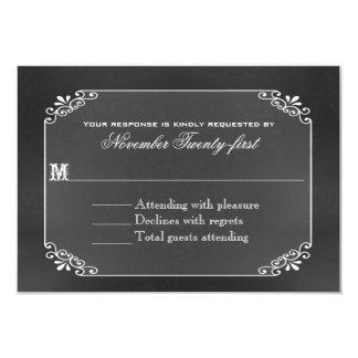 Cartão O conselho de giz da tipografia que Wedding o
