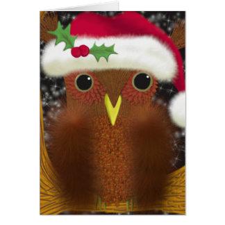 Cartão O ~ da coruja da Noite de Natal