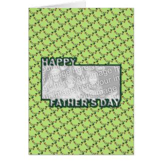 Cartão O dia dos pais cortado ADICIONA SEUS sapos da FOTO