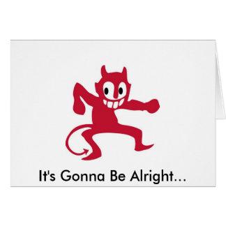 Cartão O diabo está nos detalhes
