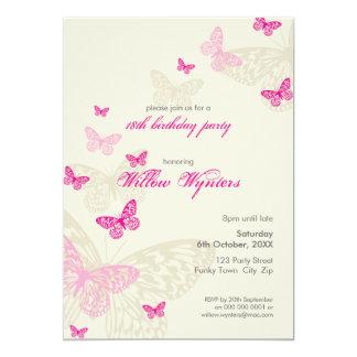 Cartão O EVENTO ESPECIAL CONVIDA:: borboletas 4P