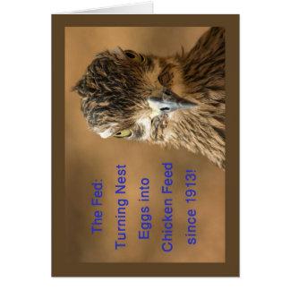 Cartão O Fed: Ovos de ninho de giro na alimentação de