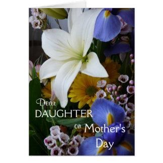Cartão O floral Dia-Filha-Bonito da mãe feliz