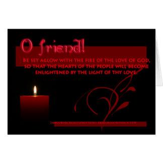 Cartão O fogo do amor do DEUS