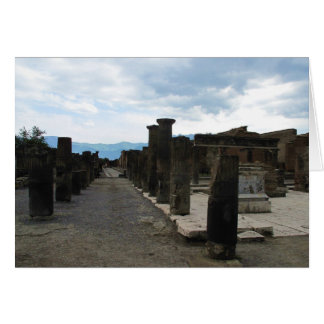 Cartão O FÓRUM DE POMPEII - fragmentos da coluna