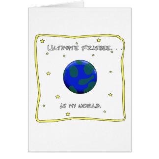 Cartão O Frisbee final é meu mundo