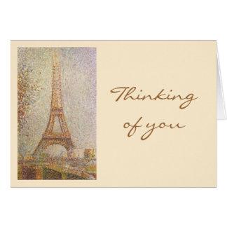 Cartão O ~ Georges Seurat da torre Eiffel