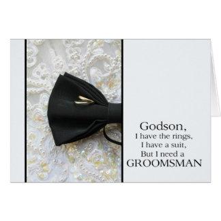 Cartão O Godson seja por favor meu padrinho de casamento