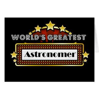 Cartão O grande astrónomo do mundo