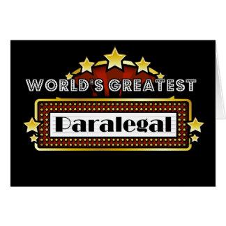 Cartão O grande Paralegal do mundo