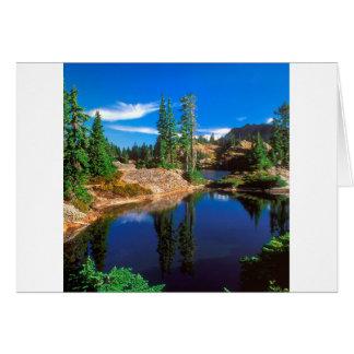 Cartão O índigo do parque sonha lagos Wenatchee Rampart