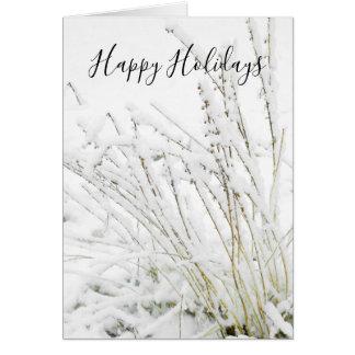 Cartão O inverno congelado neve do Natal ramifica